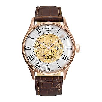 Carl of Zeyten men's watch wristwatch automatic Feldberg CVZ0011RWH
