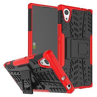 Caso 2 pezzo SWL robot ibrido rosso per la protezione di Sony Xperia XA1 Borsa Custodia cover