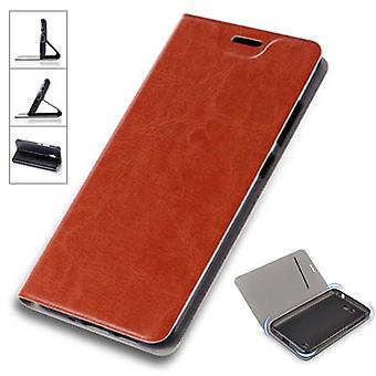 Flip / smart Xiaomi Redmi 5 plus protective case cover Brown cover case pouch cover new case
