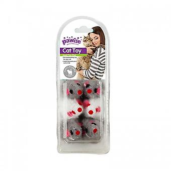 Pawise Pack 2 Mice and Balls 13 Pieces  (Cats , Toys , Balls)