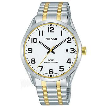 Pulsar Mens Two Tone Bracelet Date Dial PS9565X1 Watch