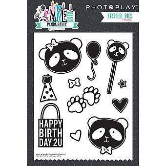 Photo Play Paper Etched Dies-Cake Panda Party