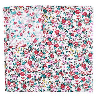 Burgunder Floral Salbei Baumwolle Einstecktuch