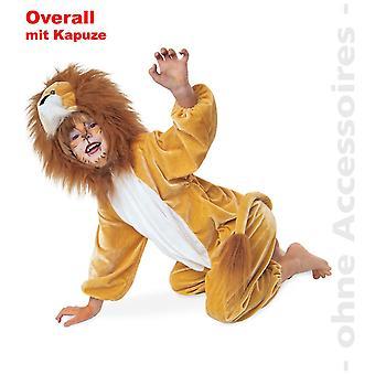 Löwe Kostüm Kinder Löwenoverall Overall Lion König der Tiere Kinderkostüm