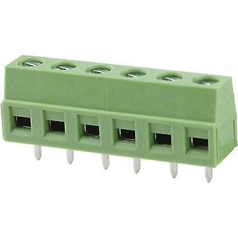 Degson DG127-5.0-02P-14-00AH Screw terminal 2.08 mm² Number of pins 2 Green 1 pc(s)