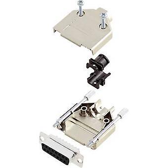 encitech DTPK-M-15-DMS-K D-SUB receptacle set 180 ° Number of pins: 15 Solder bucket 1 Set