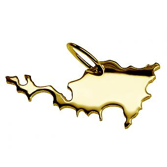 Trailers ST. map MAARTEN beads in solid 585 gold