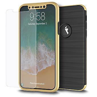 Samsung Galaxy S7 2 in 1 Handyhülle 360 Grad Full Cover Case Gold