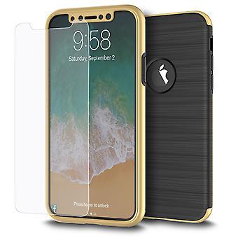 سامسونج Galaxy S7 2 في 1 حالة 360 درجة تغطية كاملة حالة الذهب