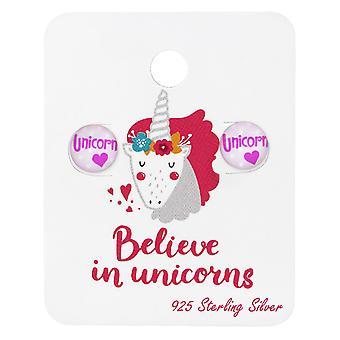 Unicorn Logo - 925 Sterling sølv sett - W34203x