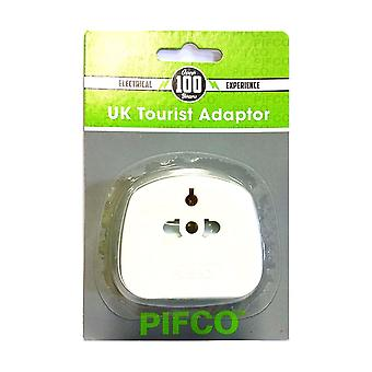 Pifco PIF2039 Portable Travel 2 Pin & 3 Pin Adaptor for Visitors to UK