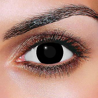 Blind Black Contact Lenses