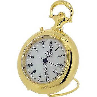 Gift Time Products Pocket Watch and Tune Miniature Clock - Gold