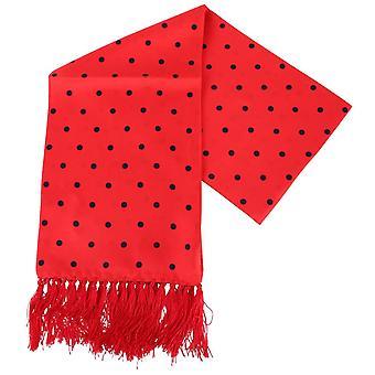 Cravatte di Knightsbridge Aviator Polka Dot sciarpa di seta - rosso/nero