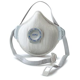 Moldex 3405 Air Plus FFP3 Rd Valved Dust Mask Reusable Pack of 5