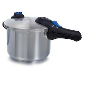 BK 6 litre pressure cooker Mat STAINLESS STEEL