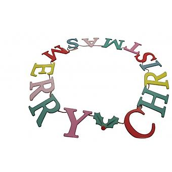 Gisela Graham Merry Christmas Multi-coloured Garland