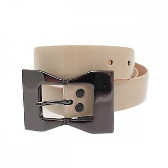 Stephen Collins 30mm Silver Bow Patent Belt