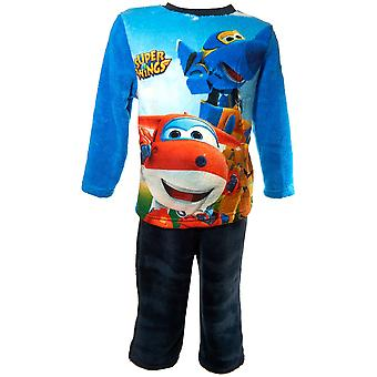 Boys HQ2180 Super Wings Fleece Long Sleeve Pyjama Set