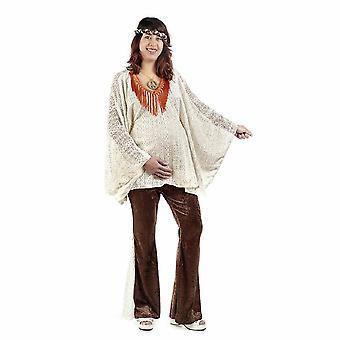 Hippie mor mor kvinners kostyme for gravide blomsten barnet