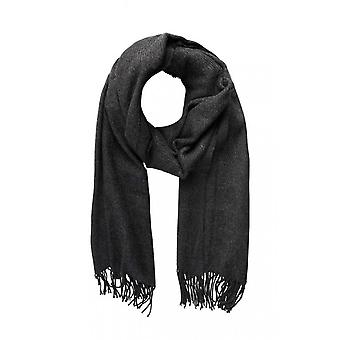 pieces of cuddly soft ladies wool scarf with fringe grey