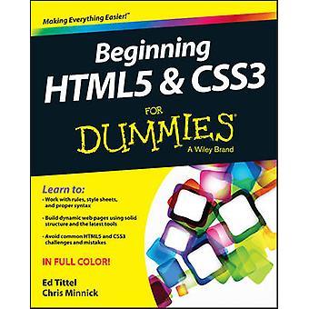 Begyndende HTML5 og CSS3 For Dummies af Ed titel - Chris Minnick - 9
