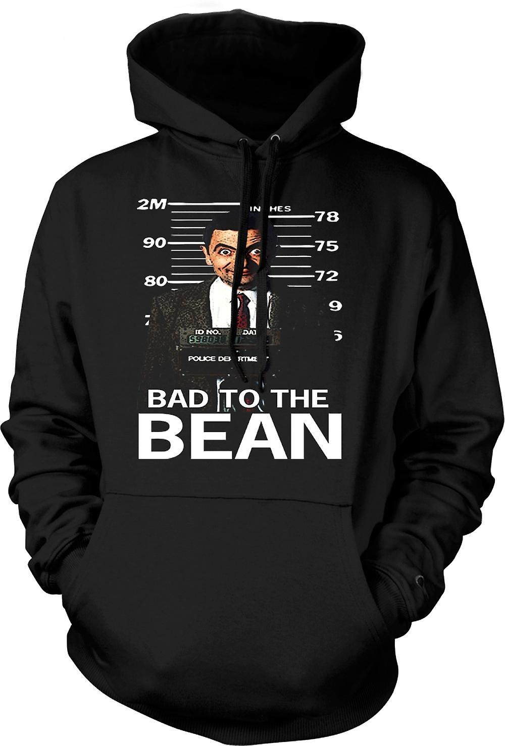 Mens Hoodie - Mr Bean Bad To Bean Mug Shot - Comedy