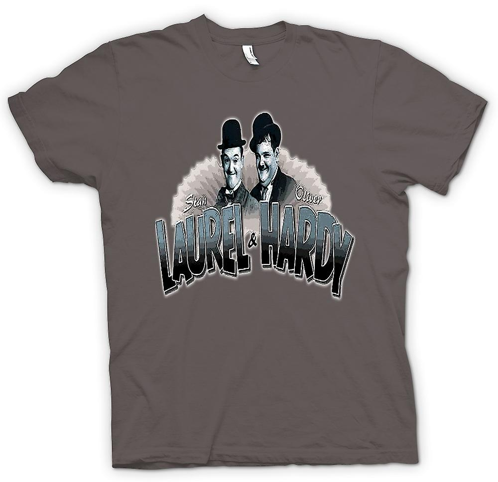 Heren T-shirt - Laurel en Hardy - Kleur