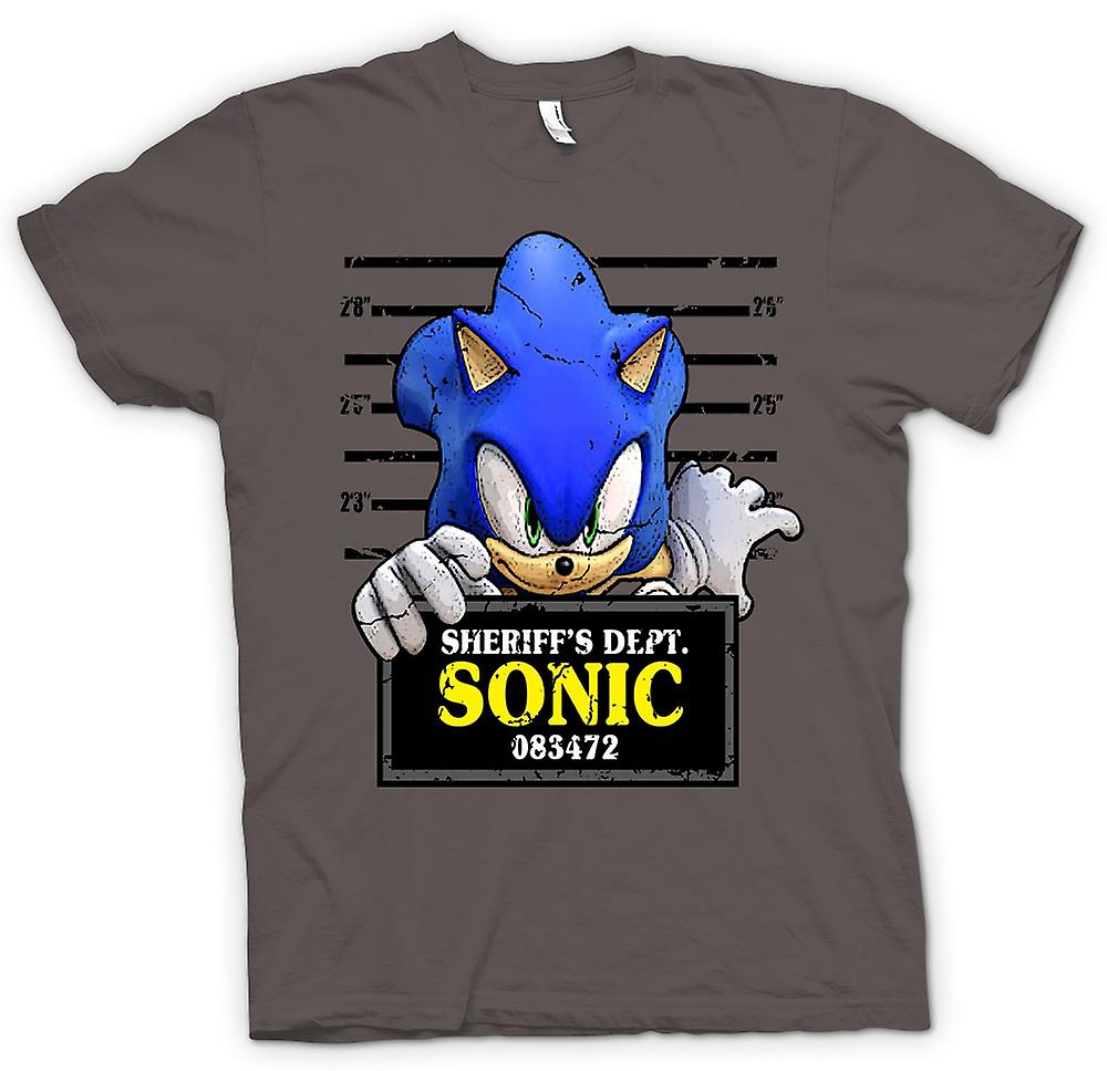 Mens t-shirt-Sonic The Hedgehog - Mug Shot