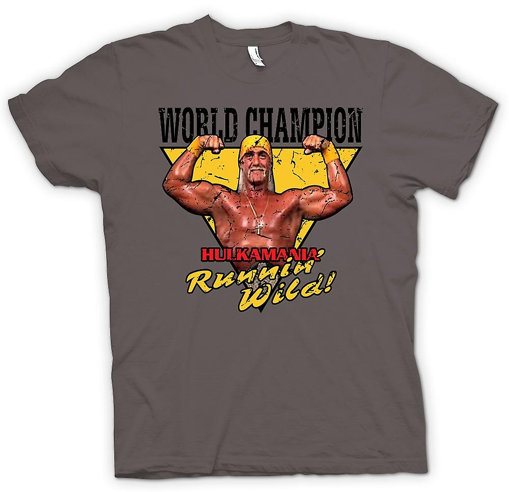 Womens T-shirt - World Champion - Hulk Mania Running Wild