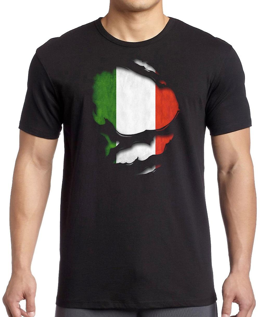 Italian Italy Ripped Effect Under Shirt Women T Shirt
