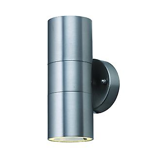 Edelstahl-Dual Led-Outdoor-Zylinder Wand Licht