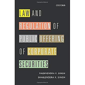 Lag och förordning av offentligt erbjudande av företags värdepapper