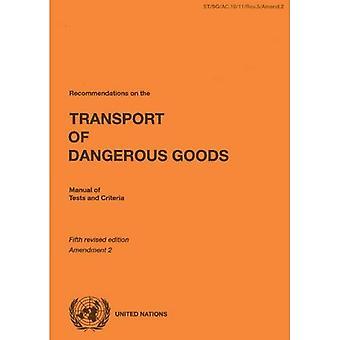 Recommendations on the Transport van gevaarlijke goederen: Manual of Tests and Criteria: amendement 2 van de 5e herzien...