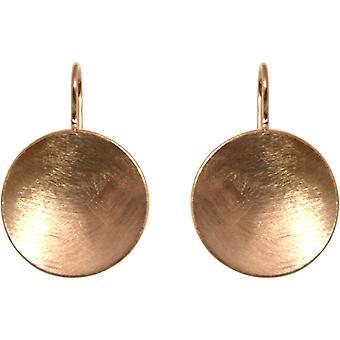 GEMSHINE damer øredobber i høy kvalitet Matt finish, solid 925 sølv rose gull belagt. Marquise designer øredobber. Laget i Madrid, Spania. I elegante smykker med gaveeske.