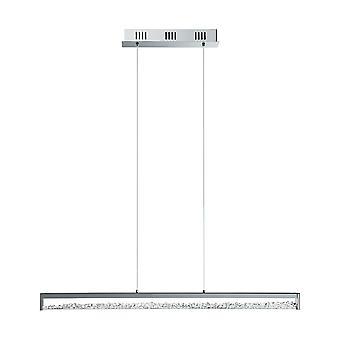 Eglo - Cardito 6 luz LED polido pingente de barra de cromo com vidro cristais EG90929