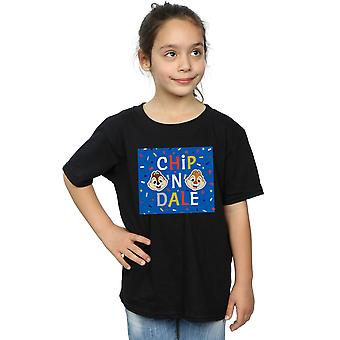 Disney Girls Chip N Dale Blue Frame T-Shirt