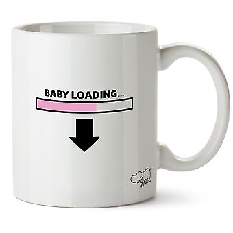 Hippowarehouse bebê carregando (rosa) impresso caneca copo cerâmico 10oz