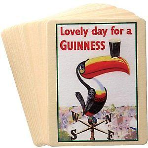 Set of 20 assorted Guinness beer mats (sg)