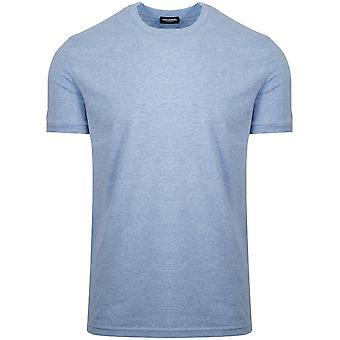 Dsquared2 DSQUARED2 Blue Marl Arm Logo Crew Neck T-Shirt