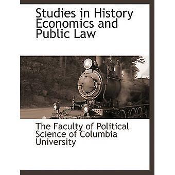 Studier i historie økonomi og offentlig ret ved fakultetet for Statskundskab i inds
