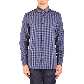 Fred Perry Blue Cotton Shirt