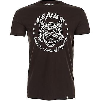 Venum Mens Natural Fighter T-Shirt - Brown