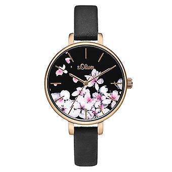 couro de relógio de pulso relógio s.Oliver feminino SO-3782-LQ