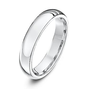 Star Wedding Rings Silver Heavy Court Shape 4mm Wedding Ring