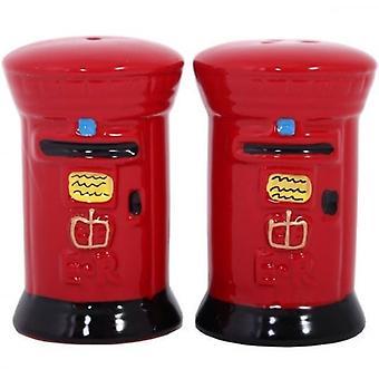 Union Jack Wear Post Box Salt And Pepper Set