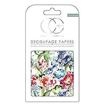 Craft Consortium Watercolour Garden Decoupage Papers (CCDECP137)