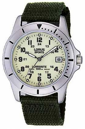 Lorus Gent's Analogue Canvas Strap RXH005L9 Watch