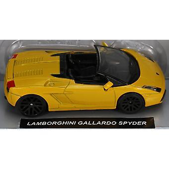 Støpt gule Lamborghini Gallardo Spyder 1:43 skala