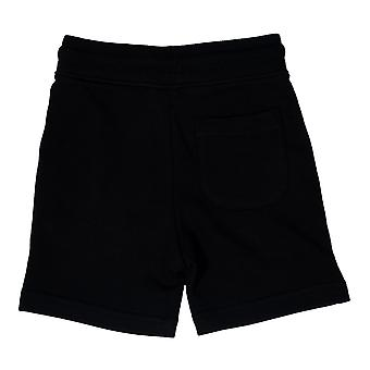 Junior Boys Franklin og Marshall fleece logo jogge shorts i svart-ribbet